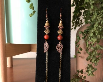 Copper and Rust Earrings