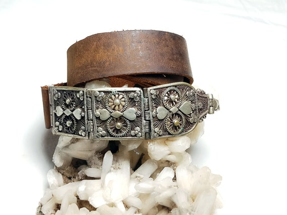 Beautiful Vintage Rare Buckle, Indian Silver Triba