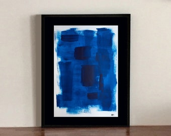 Electric blue abstract painting
