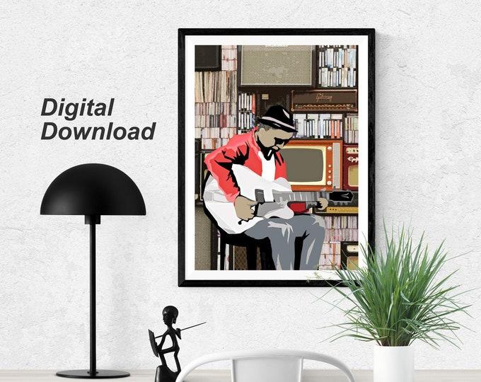Blues Man - Instant Download