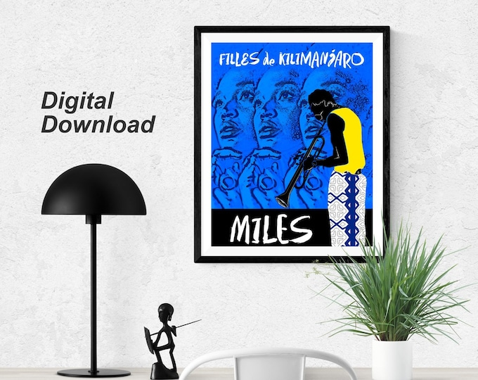Miles Davis Filles de Kilimanjaro- Blue - Instant Download