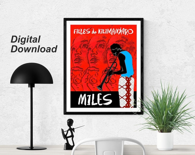 Miles Davis Filles de Kilimanjaro- Red— Instant Download