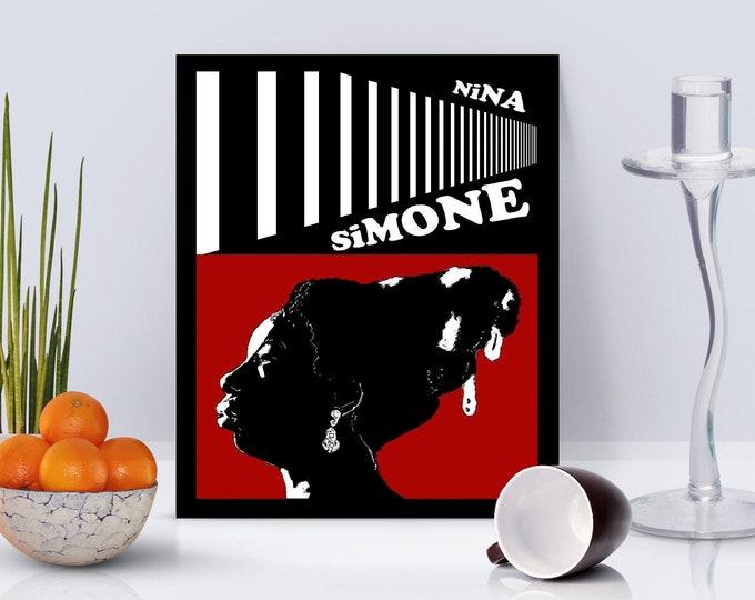 Nina Simone Red Framed Poster