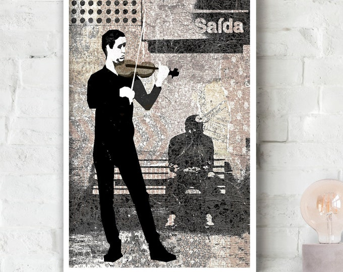 Subway Strings Poster