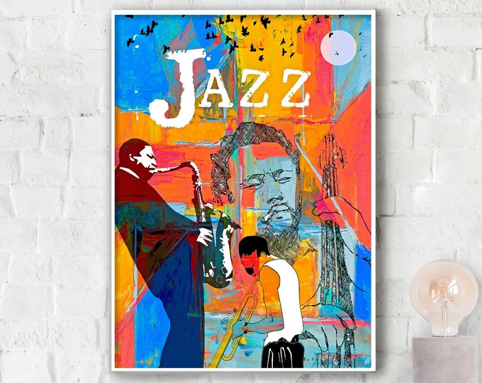 Jazz Greats Poster - Miles . Mingus. Coltrane.