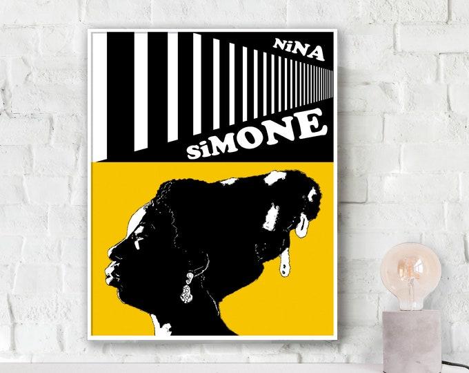 Nina Simone Yellow Jazz Poster