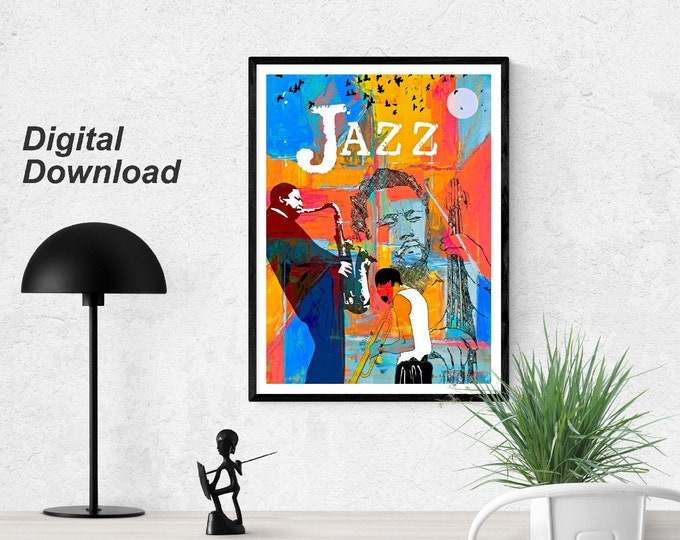 Jazz Greats Poster - Miles . Mingus. Coltrane.  Instant Download