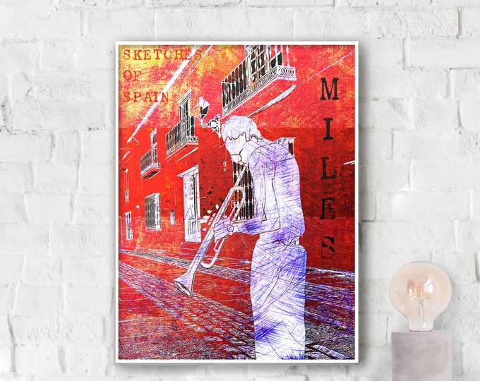 Miles Davis Jazz Poster - Sketches of Spain