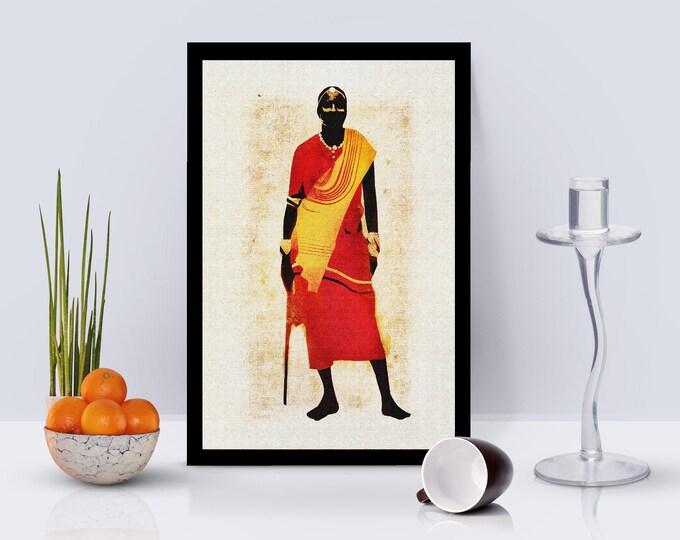 Africana Man Framed Poster
