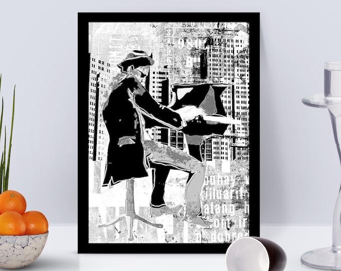Piano Man Framed Poster