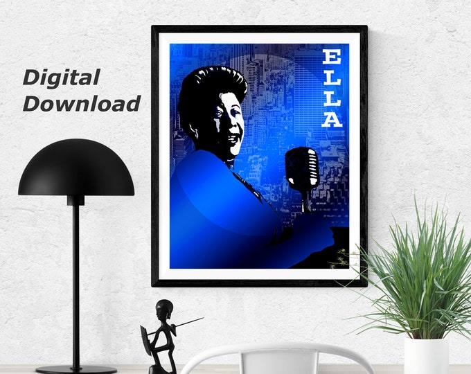 Ella Fitzgerald - Blue - Instant Download