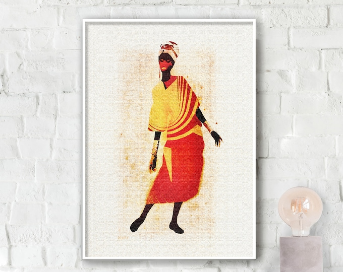 Africana Lady Poster