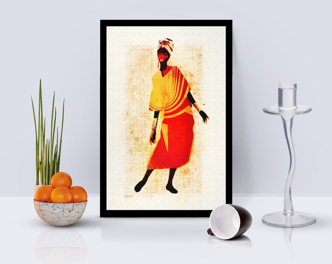 Africana Lady Framed Poster