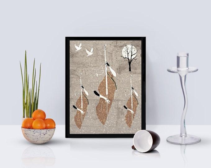 Autumn Jazz Framed Poster