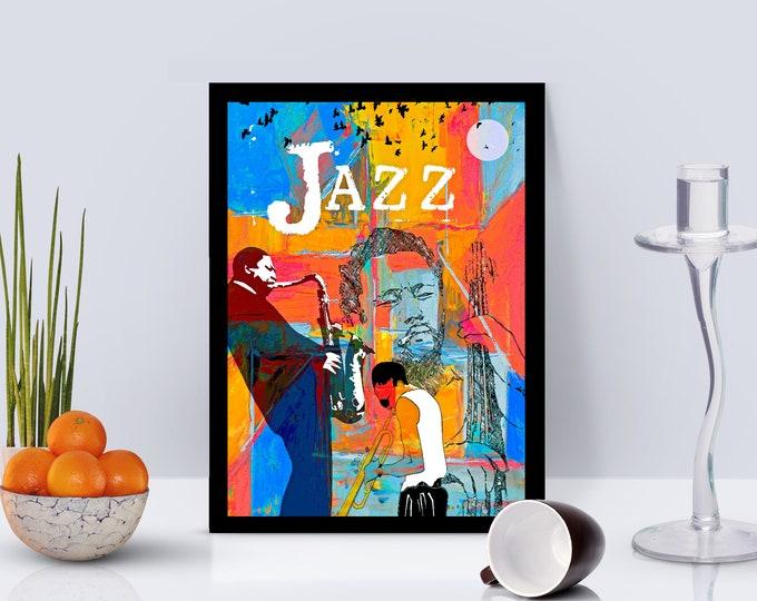 Jazz Greats Framed Poster