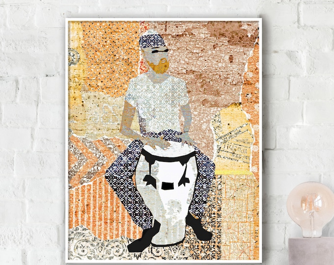 Conga Man Photo Paper Poster