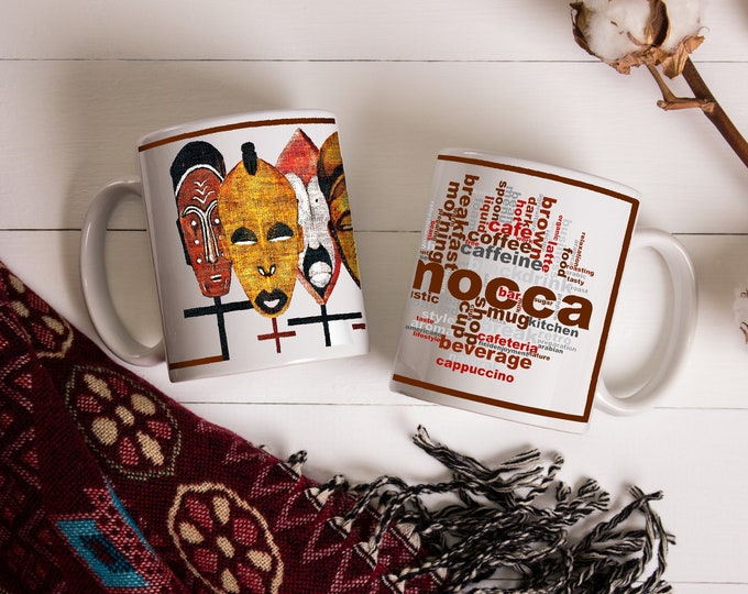 Kabila African Masks Coffee Mug 11 oz & 15 oz
