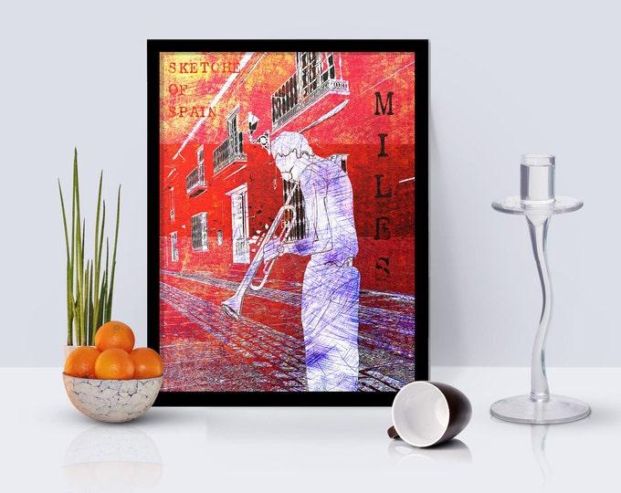 Miles Davis Sketches of Spain Framed Poster