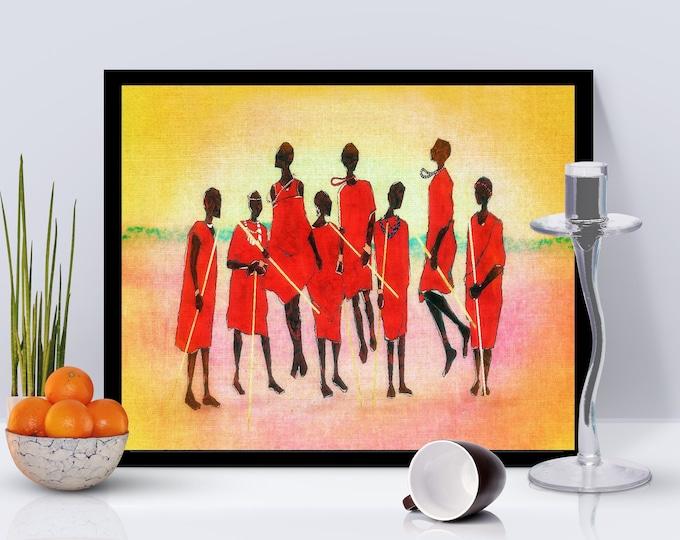 Maasai Jump Framed Poster