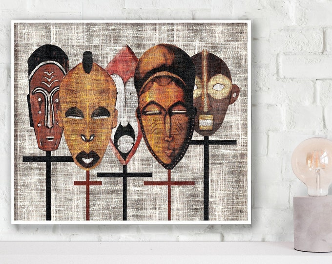 African Tribal Mask Poster