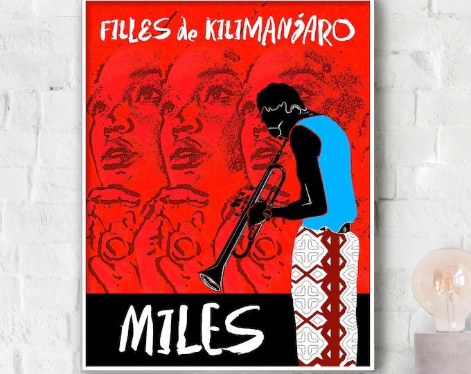 Miles Davis Filles de Kilimanjaro Poster