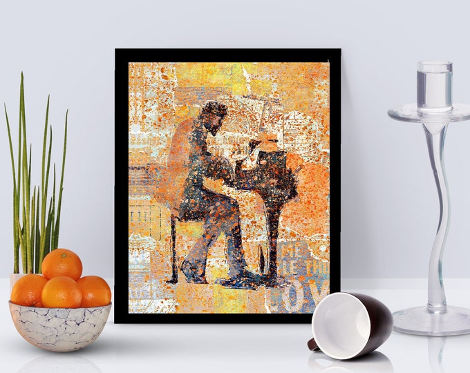 Monk Abstractedly Framed Poster