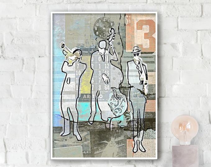 Vintage Jazz Trio Poster