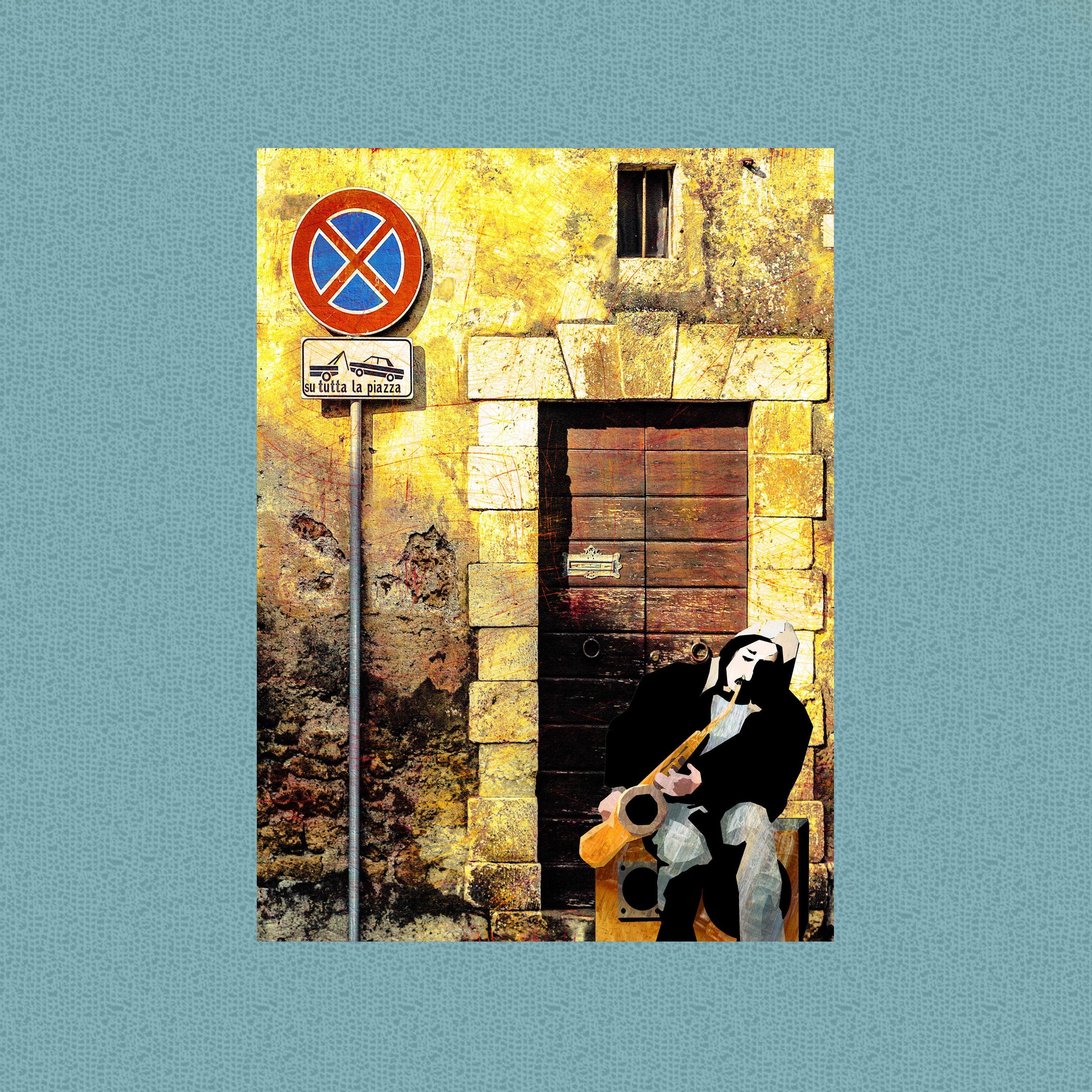 Street Sax Jazz Art/ Instant Download/Art Poster /Print It | Etsy