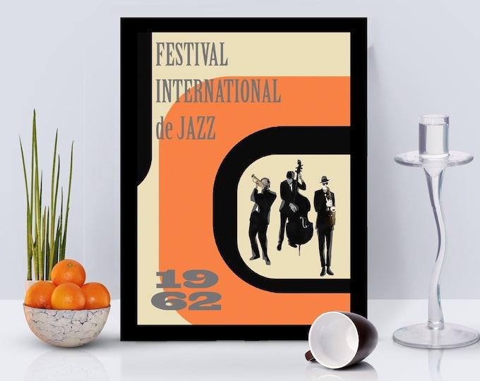 Festival International de Jazz Framed Poster