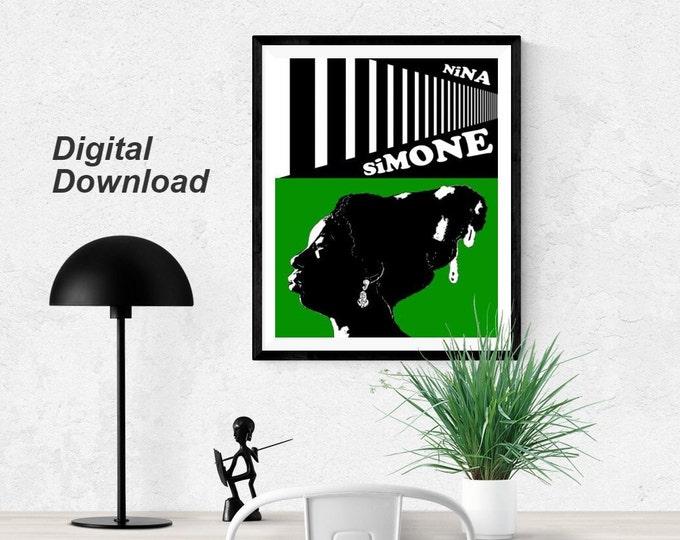 Nina Simone - Green- Instant Download
