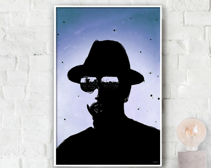 Black and Blue Dude Poster