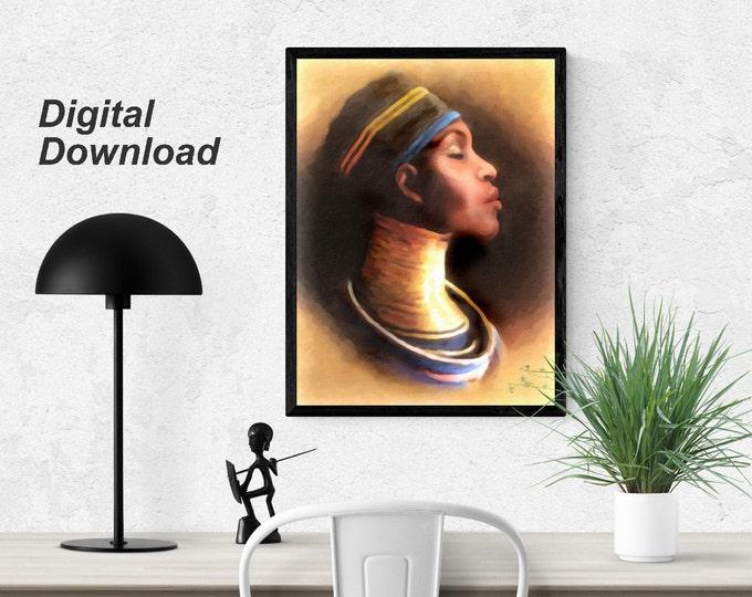 African Queen - Ndebele Woman 2 Instant Download