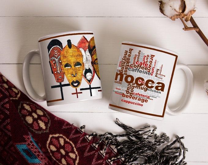 Kabila African Masks Coffee Mug 11 oz & 15 oz