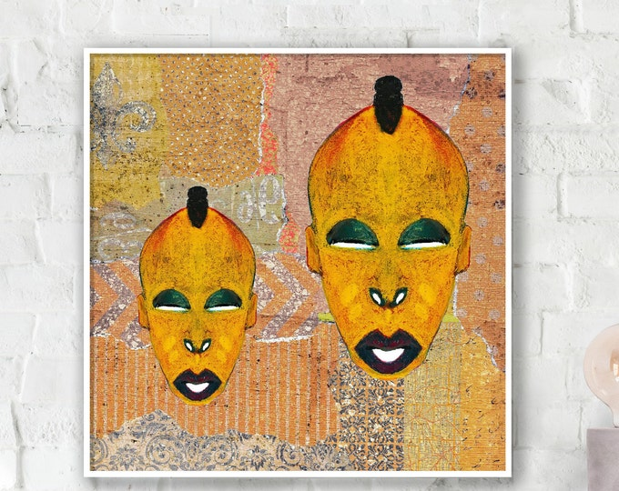 Mdomo Double Mask Collage Poster