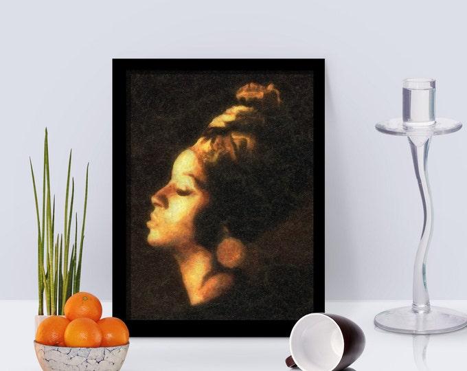 Golden Lady Framed Poster