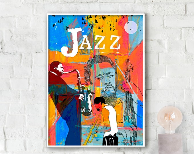 Jazz Greats Poster - Miles . Mingus. Coltrane.
