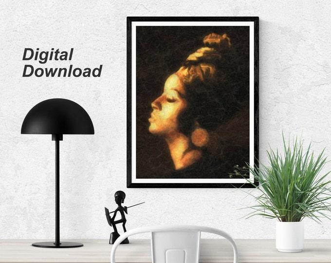 Golden Lady - Instant Download