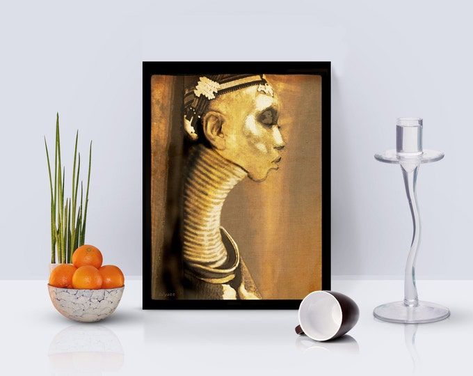 Ndebele Woman Framed Poster
