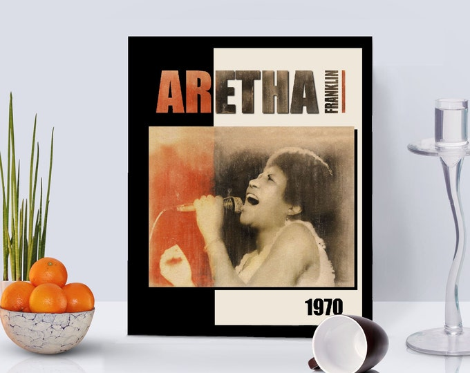 Aretha Franklin Framed Poster