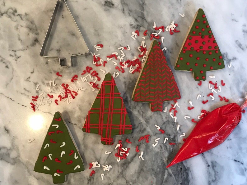 O Christmas Tree Shortbread Cookie Kit Create And Bake Etsy