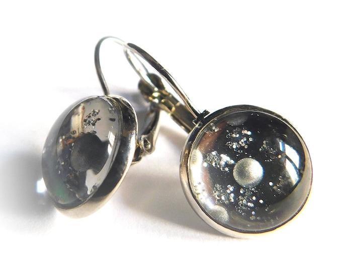 Painted Brass Jewelry Earrings - Earrings Painted Brass - Brass Jewelry Handpainted Handmade - Earrings - Jewelry - by Maria Marachowska