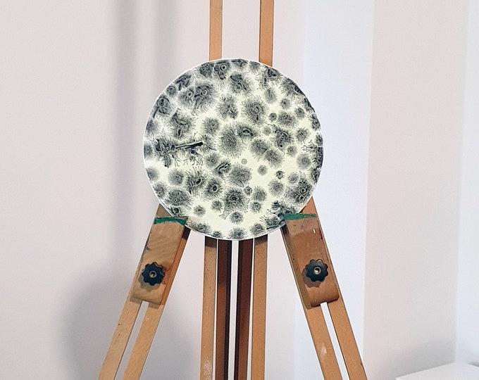 Painting Magic Moon, Glowing Painting, Abstract Painting Moon, Circular Painting, Original Painting Moon, by Maria Marachowska