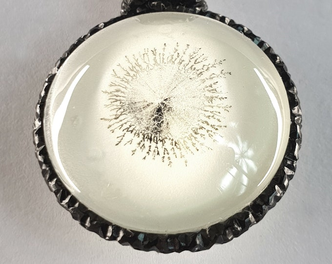 Black White Pendant - Glow in the dark Jewelry - Glass Necklace Glow - Jewelry Handmade - Glow Necklace - by Maria Marachowska