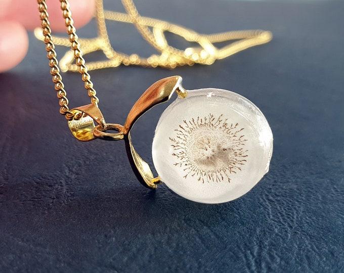 Original Glass Pendant Jewelry - Glowing Glass Pendant Jewelry - Pendant Handmade Glowing - by Maria Marachowska