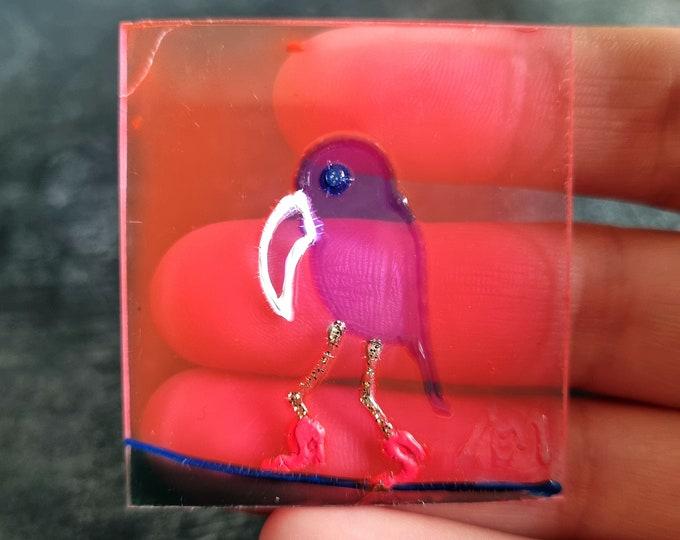 Bird Glass Suncatcher, Glass Painting Bird, Stained Glass Bird, Bird Painting, by Maria Marachowska