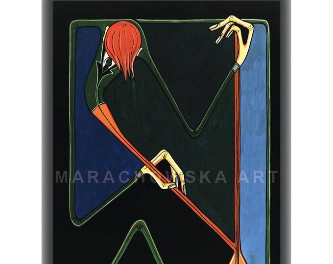 Violin Instrument, Collectors Card, Art Card Music Print, Music Instrument Print, by Maria Marachowska
