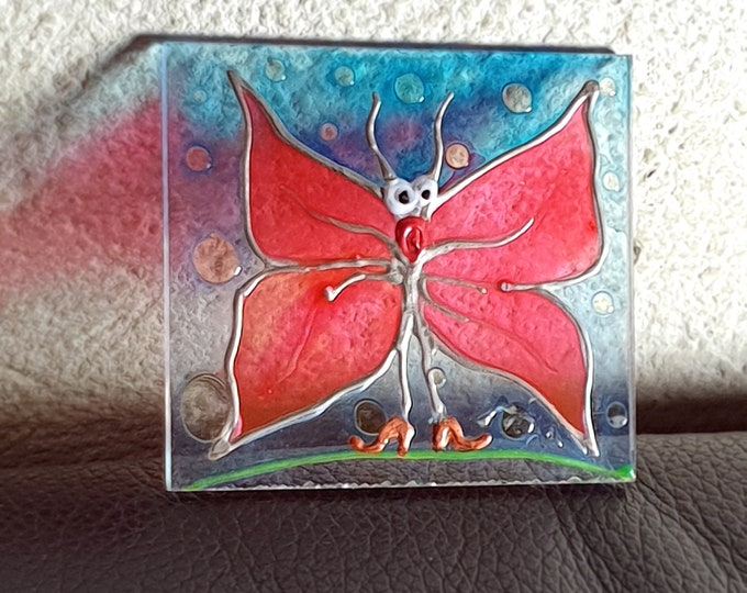 Glass Painting Butterfly, Suncatcher Butterfly, Window Butterfly, Buttrefly Decoration, Window Painting Butterfly, by Maria Marachowska