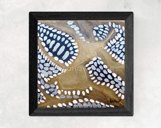 Starfish Painting - Star Canvas Painting - Gold Sea Star - Star Canvas Painting - Sea Star Canvas - by Maria Marachowska
