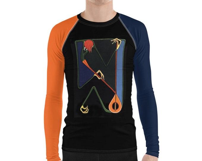 Men's Rash Guard, Music Clothes, Violinist, Marachowska Art