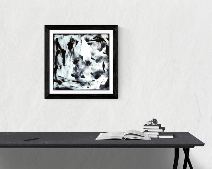 Abstract Faces Painting - Black White Faces Painting - Abstract Faces Black White - Abstract Faces Artwork - by Maria Marachowska